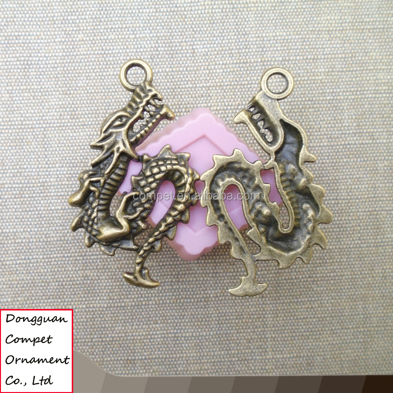 Chinese zodiac dragon alloy accessories diy jewelry