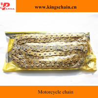 Nickel-plated 2mm slice gold motorcycle chain428H for hot sale