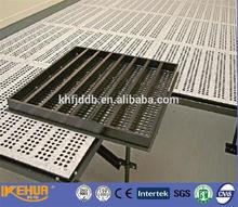 Perforated access floor system