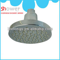 Bathroom ABS plastic chromed silicon nozzles rain shower sprayer