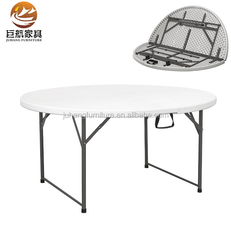 Outdoor wedding party 5ft round plastic folding table