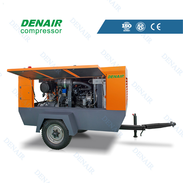 Diesel mobile air compressor for drilling rig