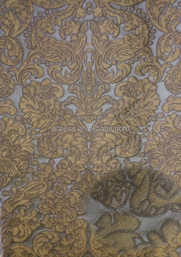 best-selling jacquard metallic upholstery fabric curtain fabric