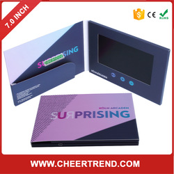 Hot New Products mini lcd video screen paper thin lcd popular small size greeting cards