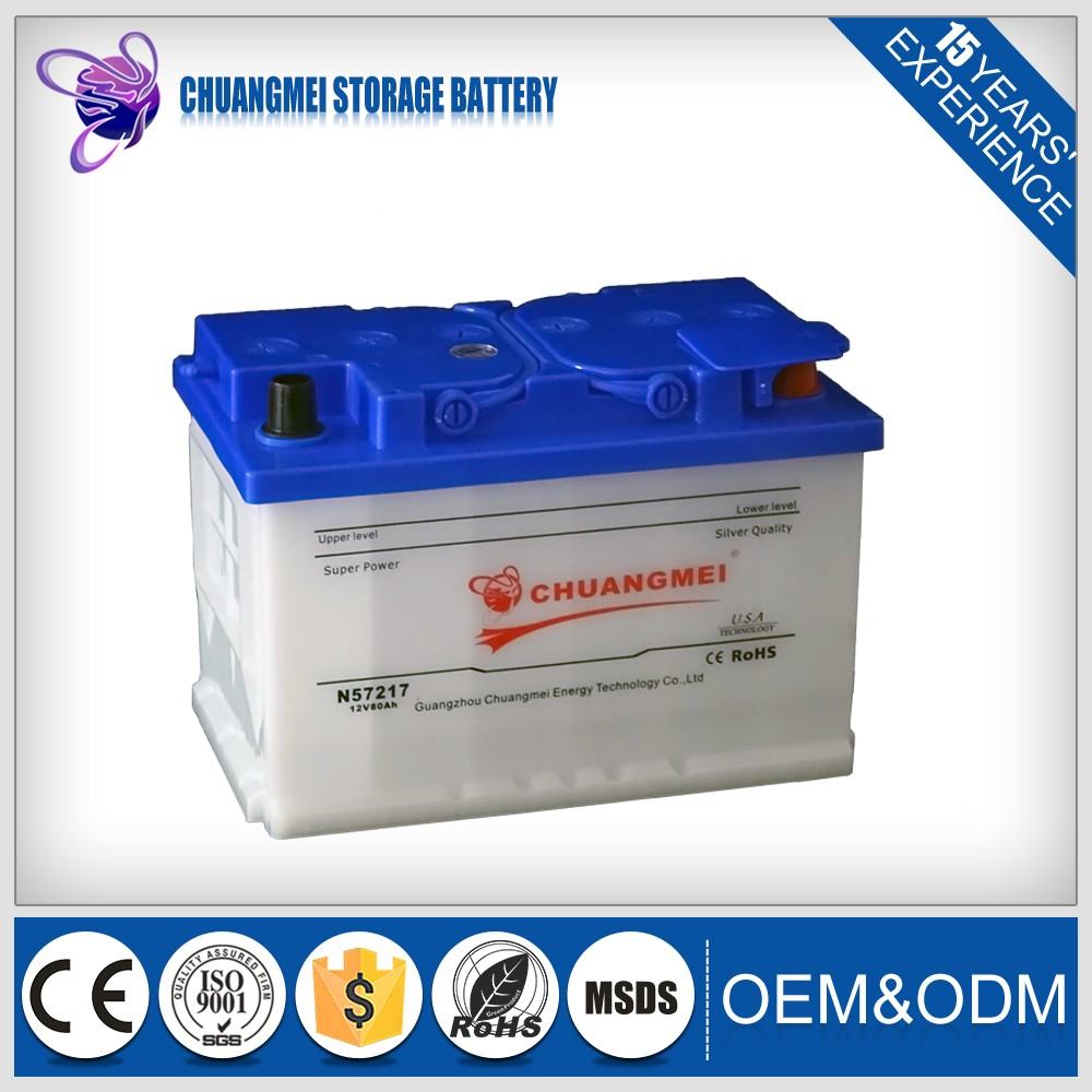 Dry Charged European Standard Rechargeable 12v75ah exide car battery