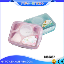 Beautiful Hot Sale good sealing kid bento lunch box with compartment(5 grip/+soup bowl)
