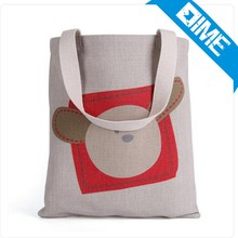 picture printing custom canvas a4 size lady's tote shopping bag