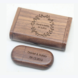 High speed usb 3.0 wood flash drive for 8gb with wood box for photography