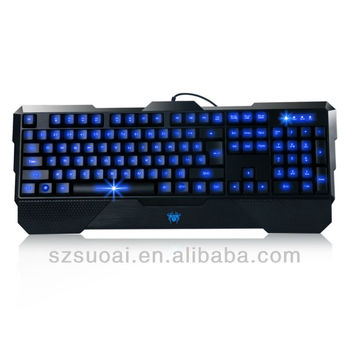 glow in the dark led keyboards with holder
