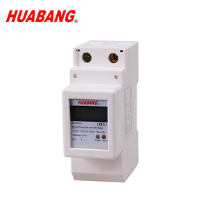 Multi function single phase 2 module din rail voltage current power frequency measurement meter