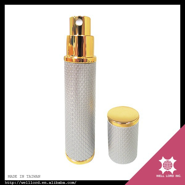 Superior Taiwan wholesale fake leather perfume atomizer spray bottle