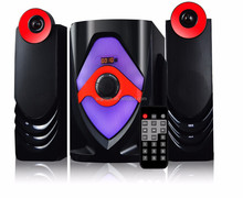 2014 Stereo vibration 2.1 music player speaker with usb port for dvd player with USB/SD/FM /Remote control