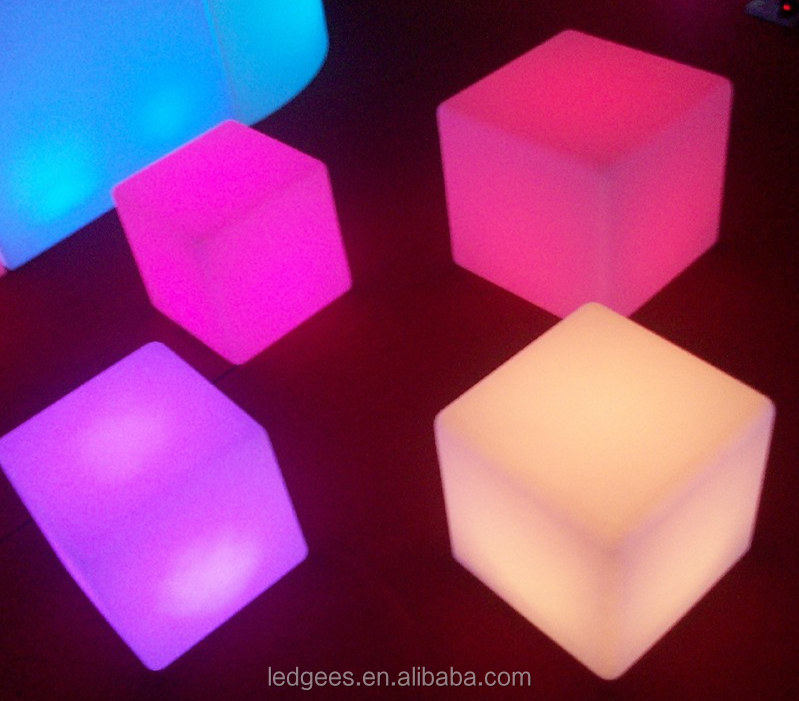 Magic multicolor furnishing-small seat and table LED cube plastic cubes for sale