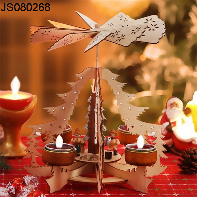 2016 New Christmas decoration, Christmas wooden candle holder with windmill design