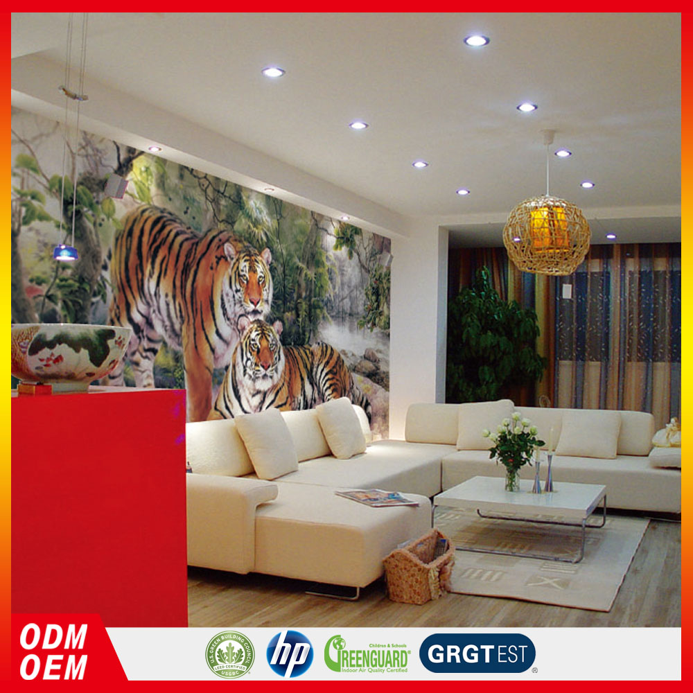 forest style two tigers design home decor animal mural custom wallpaper