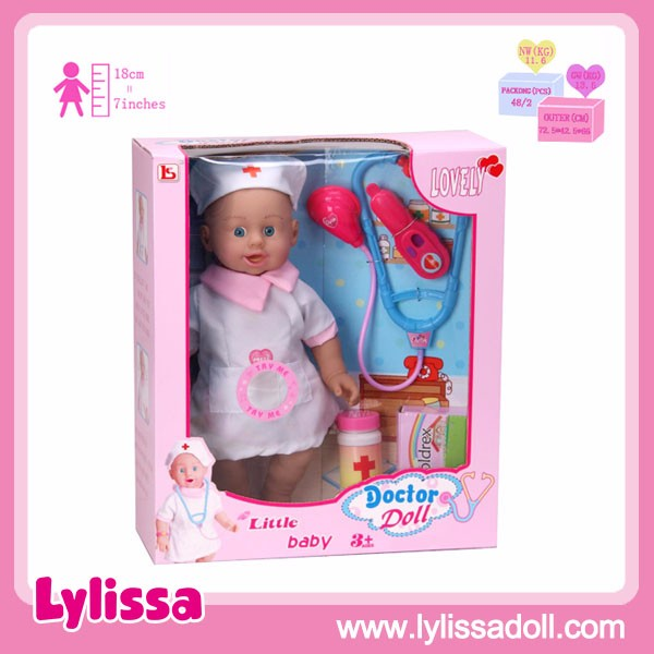 2019 Newest Design Doctor 13 Inch Baby Doll with Medical Instruments Toy Set