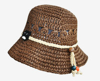 ladies summer sun woven crochet raffia straw hat