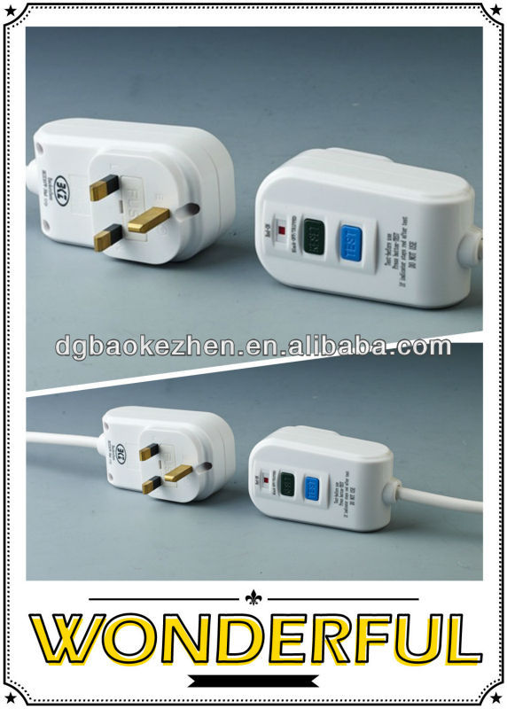 E30PW UK plug, RCD plug
