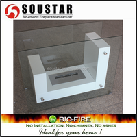 double sided alcohol Indoor Free Standing fireplace