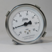 2.5 inch back connection stainless steel standard pressure gauge
