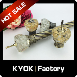 KYOK Popular style high quality Curtain Accessories Metal Material Curtain Poles,swivel curtain pole