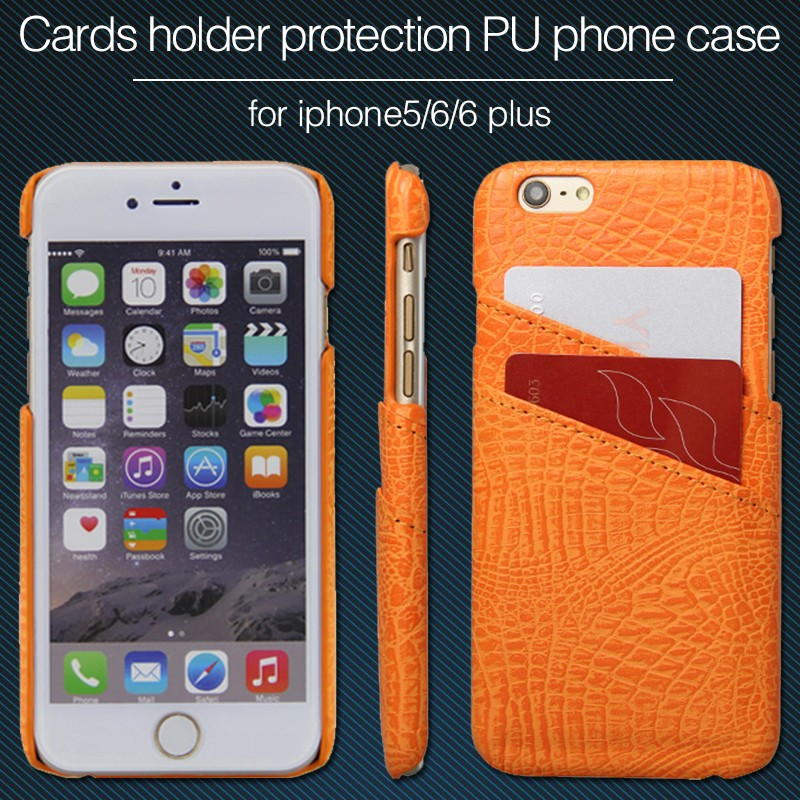 hot sell Crocodile leather multi credit card holder case for iphone 5 6plus