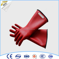 safety protection rubber electric insulation glove western safety gloves