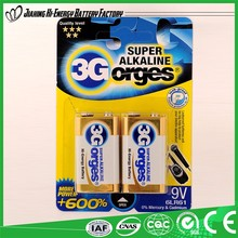 Energy Pro-Environment Low Price Dry Battery 9V Alkaline Battery 6Lr61 6Am6