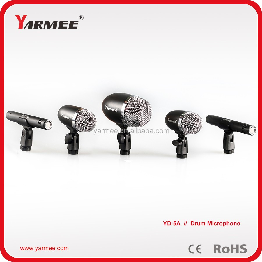 5 Groups Professional Kick Drum Microphone Musical Instrument Microphone YD5A