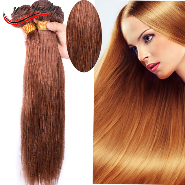 Excellent quality wholesale cheap price 30# blonde color straight Peruvian human hair weft
