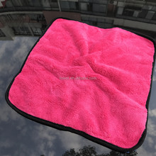 Car care products plush silk edge microfiber car detailing towel
