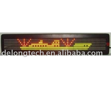 CE 7X80pixel P7.62 red green one line graphic text scrolling moving message English indoor led illuminated sign for window shop