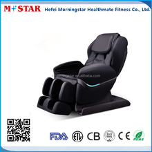 L shape back track Zero gravity Rocking chair massage, black leather massage chair