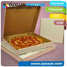pizza box in customized sizes and thickness