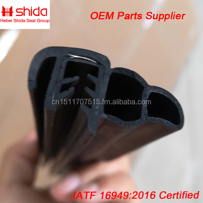 Push-On Trim Seals Dual Durometer Sponge and Solid Rubber Extrusions with Flexible Steel Wire Core China Manufacturer Supplier