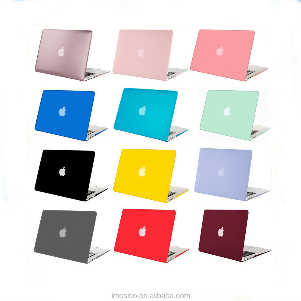 Laptop Hard Case Mosiso Plastic Shell Cover See through Rubberized Matte Case For Macbook Air , Greenery