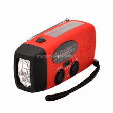 Solar dynamo hand crank flashlight radio with power bank