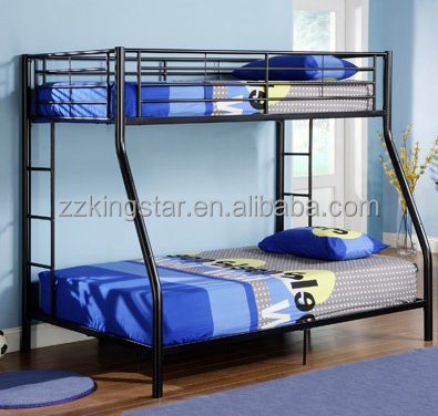 Sturdy twin over full 3 person adult steel metal bunk beds wholesale