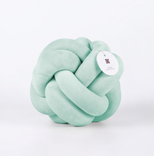 Home Decor Fashion Dolls Velvet Plush Soft Knot Ball Pillow Throw Aqua Knotted Cushion for Babies