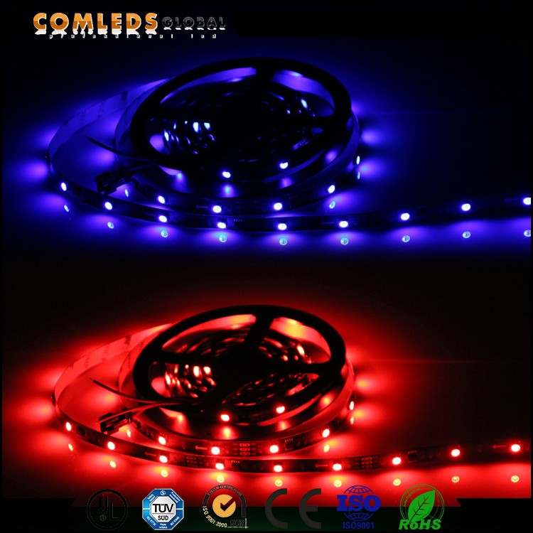 5m rgb dream color led strip with connector , led strip 220v
