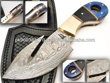 Custom made Damascus Steel Skinner Knife PDS-1025