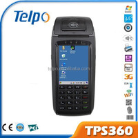 3G WIFI GPRS pos terminal TPS360 with fingerprint, barcode reader, Magnetic/smart card reader