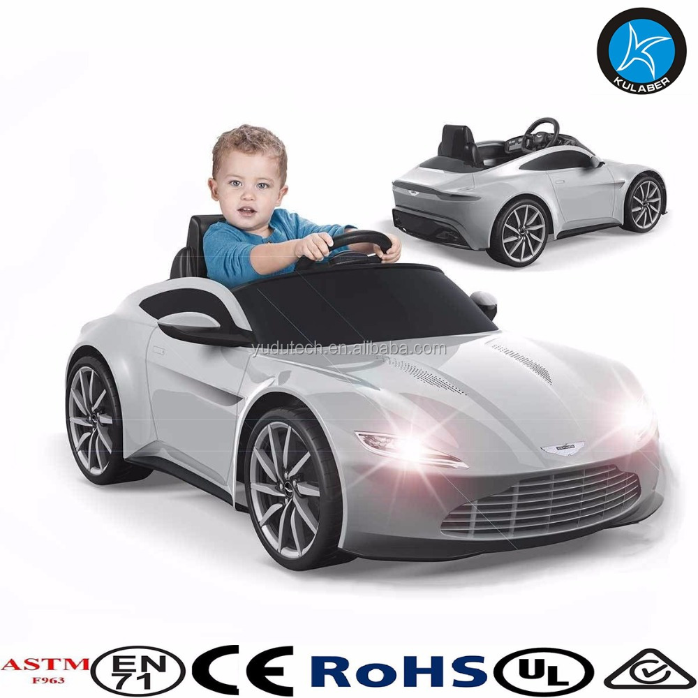 James Bond Aston Martin 6V Electric Ride On Car Kids Battery Lights Sounds Toy