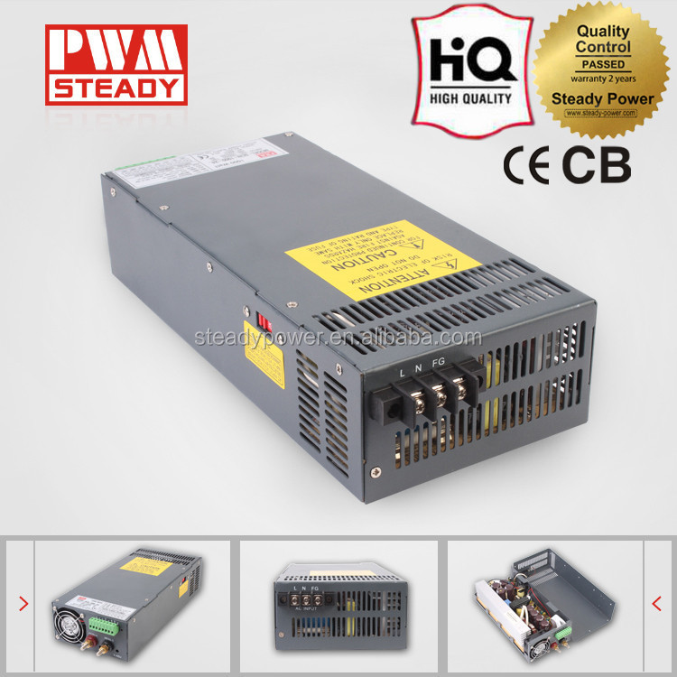 SCN-1000-12 1000W Constant Voltage 80A 12V High Frequency Switching Power Supply