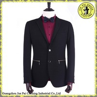 Tailor made suits with zip pocket