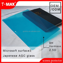 2015 Newest tablet 9H 2.5D Japenese AGC tempered glass screen protector for Microsoft Surface 3