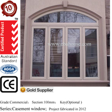 Australia standard AS2047 thermal break double glazed import aluminium casement window
