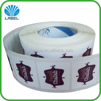 Self adhesive Label Stickers Custom Color Printed Vinyl Label with Company Brand Logo