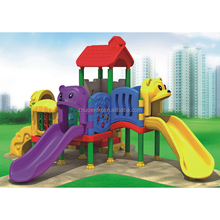 Children forest plastic slide playing kid game toys equipment playset items for sale