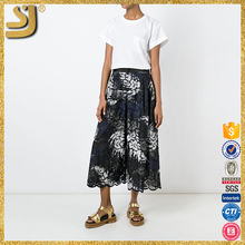 SHANGYI newest girl's mini culotte, full printed netball culotte, women in pants and stockings